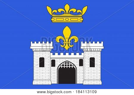 Flag of Angouleme is a French commune the capital of the Charente department in the Nouvelle-Aquitaine region of southwestern France. Vector illustration