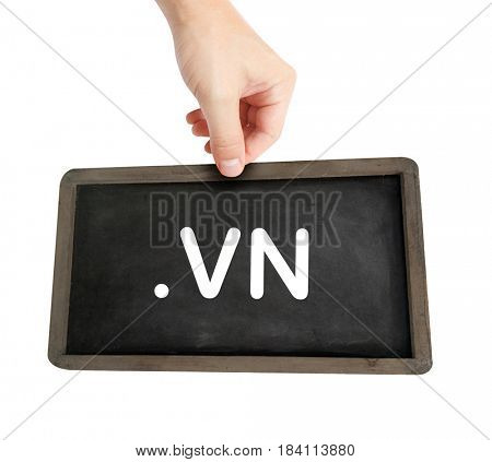 The .vn domain name on a keyboard key
