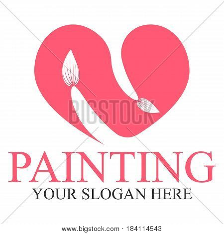 Painting logo template design vector eps 10