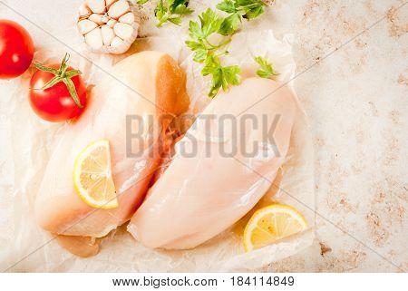 Fresh Raw Chicken Fillet, Breast