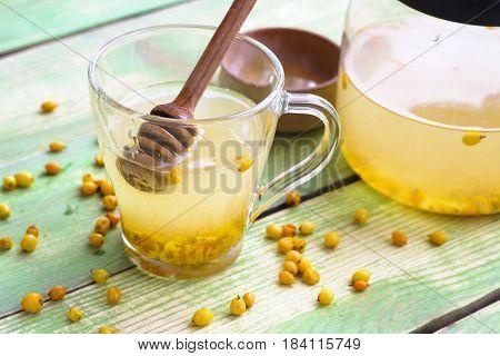 Hot Berry Drink - Sea Buckthorn Tea In A Glass