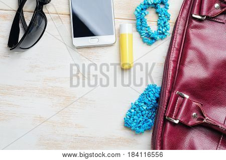 Woman's Bag And It's Content