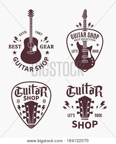 Vector Guitar Shop Logo