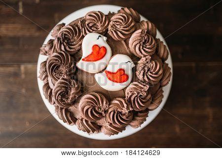 Homemade chocolate cake, culinary masterpiece