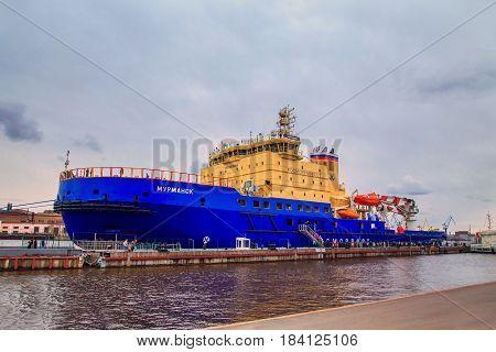 Festival Of Icebreakers On The Neva River.