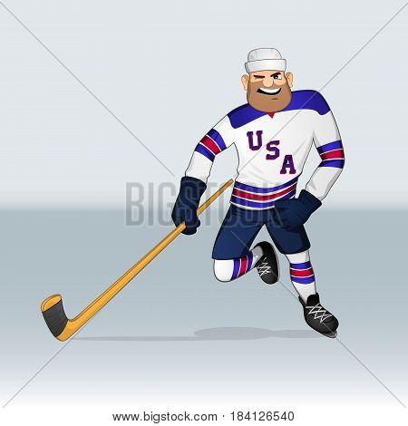 Usa Ice Hockey Team Player