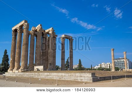 Temple of Olympian Zeus (Olympieion) Athens Greece