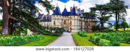 Most beautiful castles of Europe - Chaumont-sur-Loire, Loire valley,France