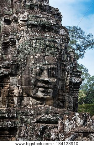 ruins of the temple of Bayon, Siem Reap, Cambodia