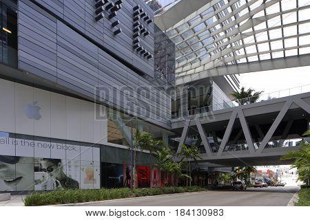 BRICKELL, FL, USA - APRIL 28, 2017: Stock image of Brickell City Centre at Downtown Brickell Miami FL, USA