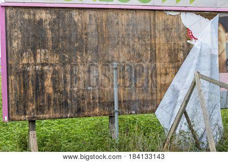 old billboard wooden