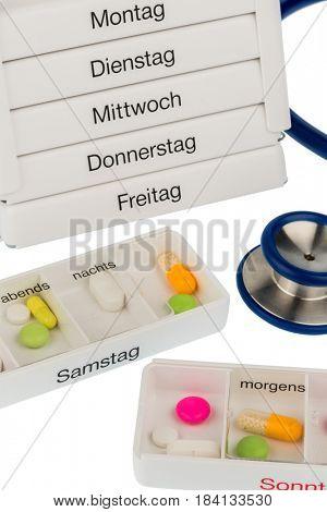 tablet dispenser and stethoscope
