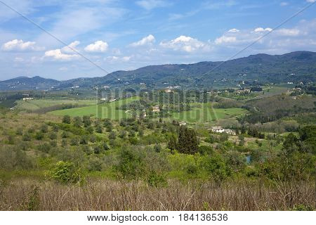Beautiful Cloudscape Over Tuscan Hills