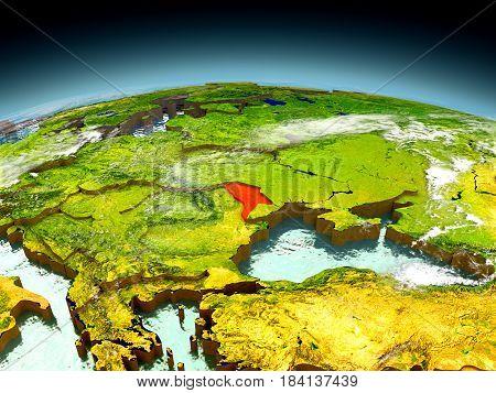 Moldova On Model Of Earth
