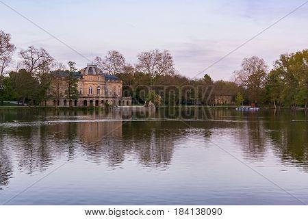 Schloss Monrepose Stuttgart Ludwigsburg Germany Castle Palace Residence Historical Landmark Spring 2