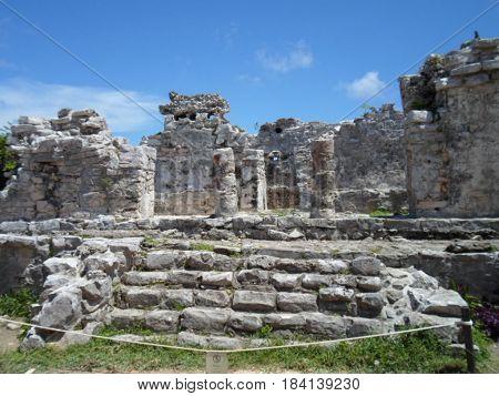 Beautiful Tulum ancient ruins in Tulum Mexico