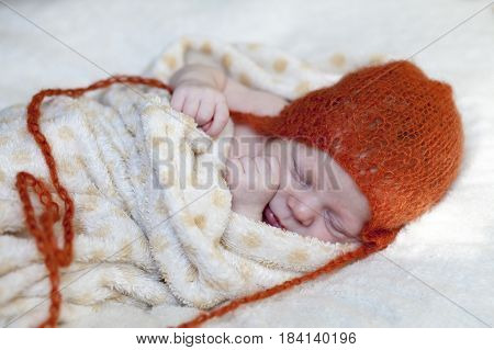 Adorable Baby Asleep Holding Fists