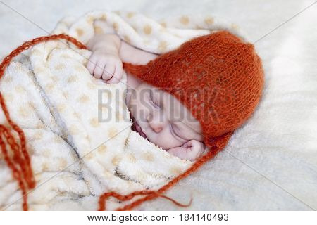 Closeup On Baby Peacefully Asleep
