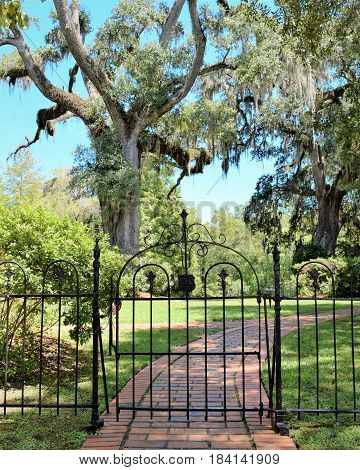 Cemetery Gate leads the way to a peaceful place.