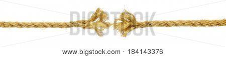 Rope fraying isolated on white
