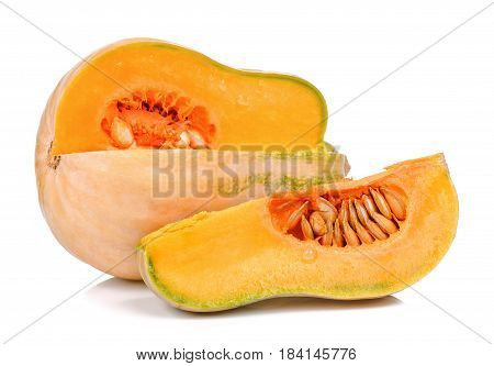 Butternut Isolated On The White Background