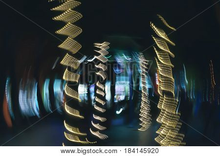 Abstract moving lights Fort Myers Beach Florida