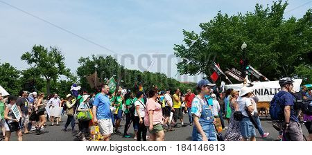 Washington Dc - April 29, 2017 Peoples Climate Movement