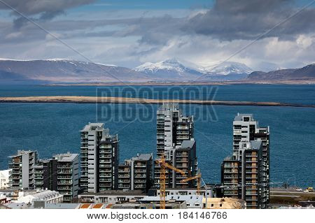 Residential Buildings In Reykjavik