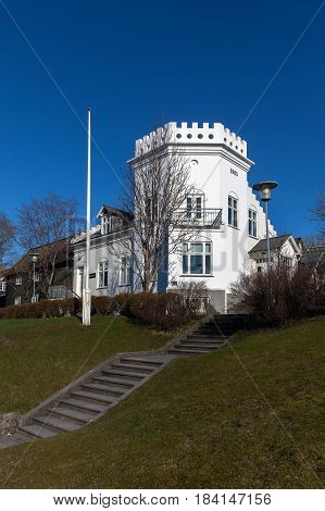 Gimli Building In Reykjavik, Iceland.