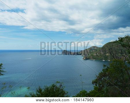 Coastal view St Lucia, Caribbean One of the coastal views of St Lucia, Caribbean