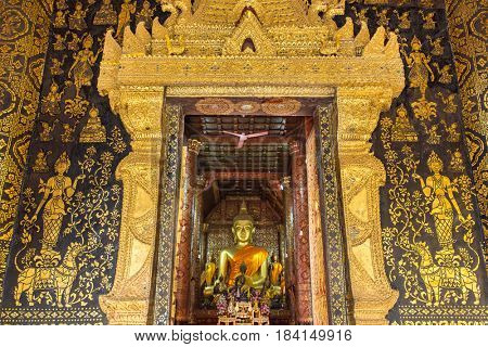 Entrance to Wat Xieng Thong temple, Luang Prabang, Laos