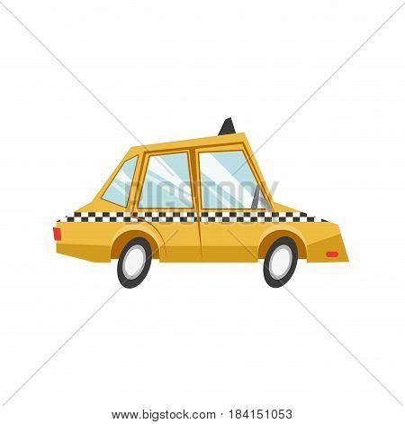 taxi car transport public service vector illustration