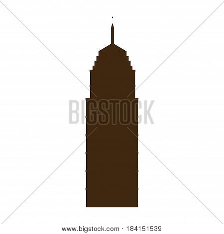 silhouette building city downtown image vector illustration