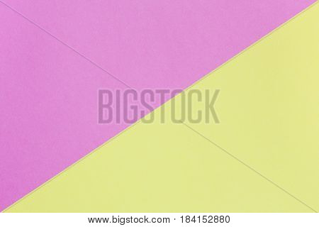 yellow and pink pastel background with copy space. Texture of fashion minimal concept. Top view. Flat lay.