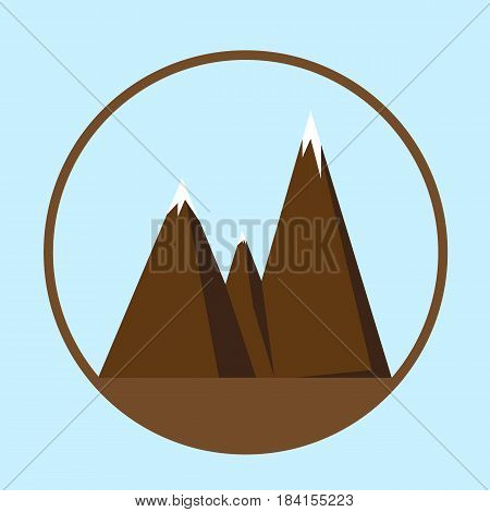 Image of mountains. The symbol tourism, nature. Can be used as a logo or icon. The stock vector.