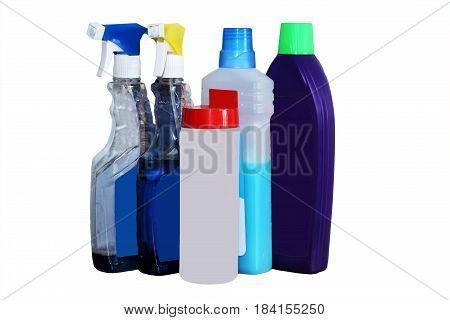 Assortment of means for cleaning isolated, cleaning