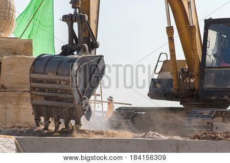 Production Equipment For Excavators On Modern Construction Sites