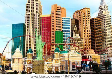 LAS VEGAS, NEVADA - Oct 09, 2016. Las Vegas NYNY CASINO AND HOTEL at Morning