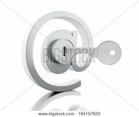 3D Mail Sign With Key