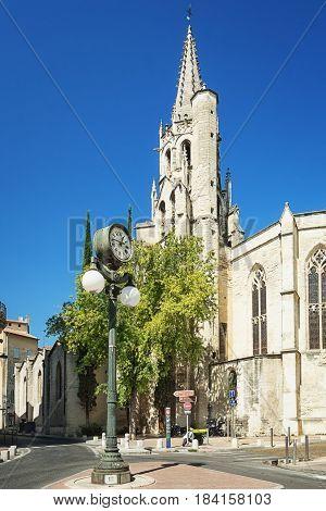 Avignon, France, September 9, 2016: Basilique Saint Pierre in the old town of Avignon France