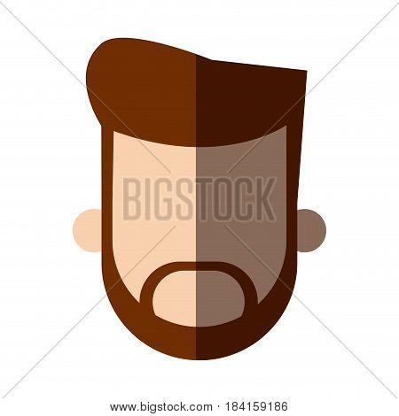 faceless head beard man people image vector illustration