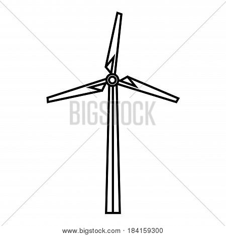 eolic turbine icon over white background. vector illustration