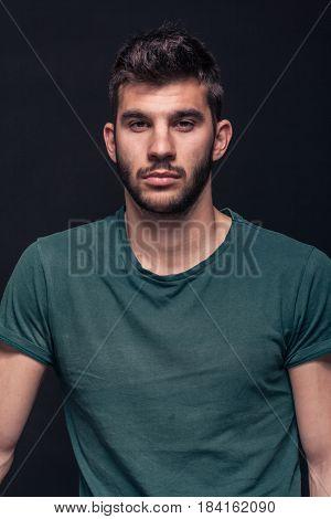 Handsome Man Portrait, Front View