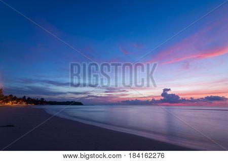 sea sane sun in morning twilight thailand