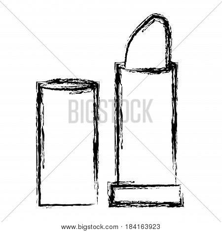 lipstick icon over white background. vector illustration