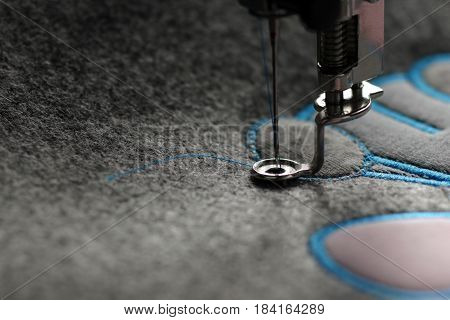 embroidery and application with embroidery machine - foundation for satin stitch