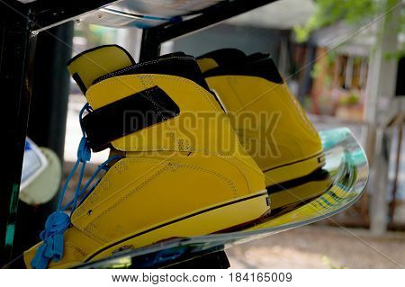 Sports equipment Wakeboarding is on the shelves.