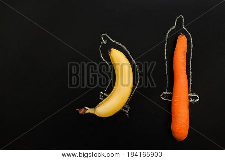 Two phallus in condoms, protection that fit any shape of penis. Sex, contraception concept. Penis with imaginary protection