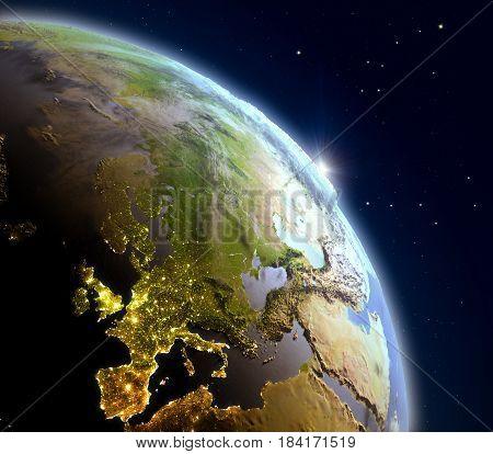 Sunrise Above Europe