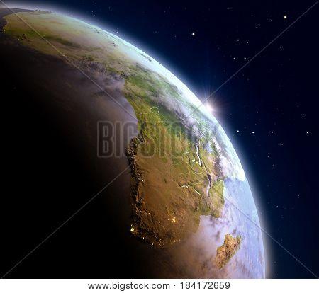 Sunrise Above Africa